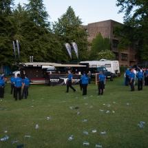 Wenn alle Gäste das Gelände verlassen haben, zerstreuen sich auch unsere Sicherheitskräfte so langsam.
